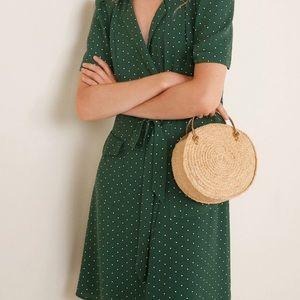 MNG casual polka dot dress